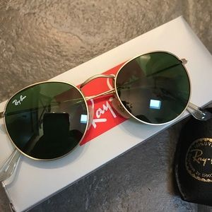 Ray-Ban classic round- green g15 lenses